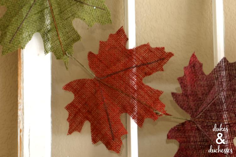 burlap leaf banner