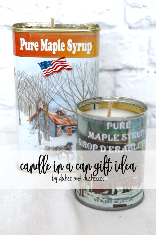 candle in a can gift idea