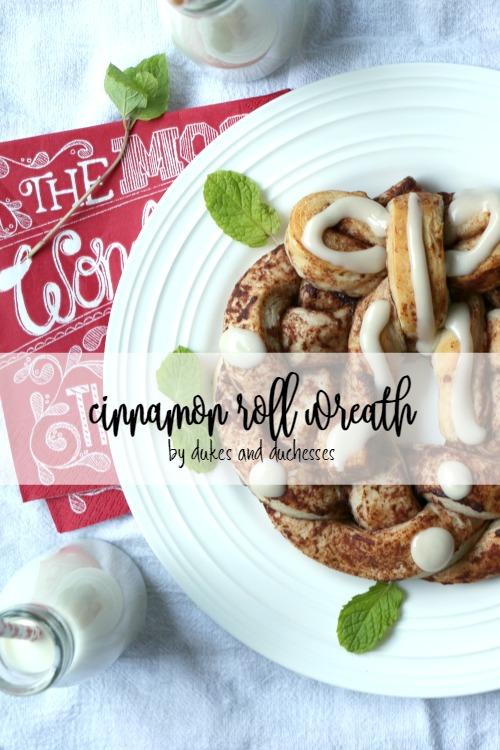 braided cinnamon roll wreath