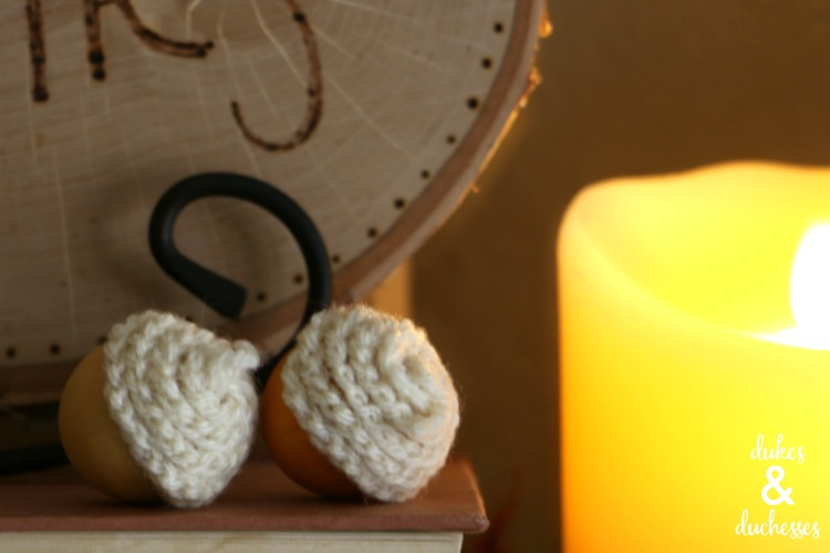 crochet tops on acorns
