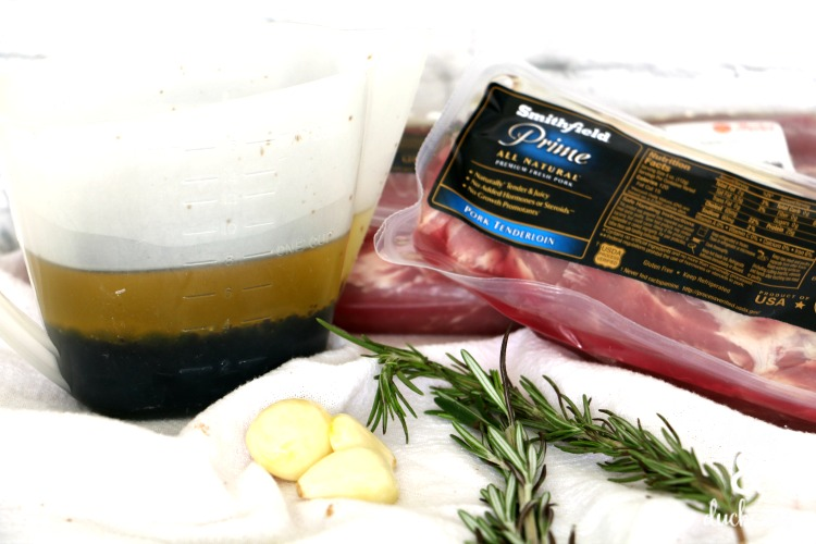 ingredients for marinated pork tenderloin