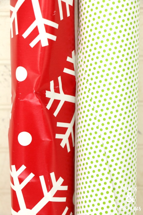 rolls of wrapping paper to make garland