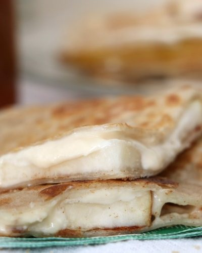 Pear Cheesecake Dessert Quesadilla