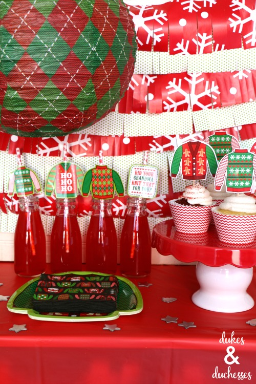snack bar at ugly christmas sweater party