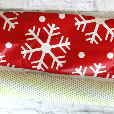 Wrapping Paper Garland and Backdrop