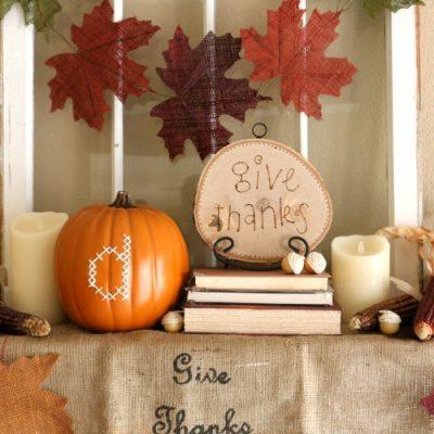 Thanksgiving Mantel Decor