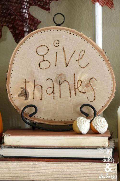 thanksgiving mantel ideas