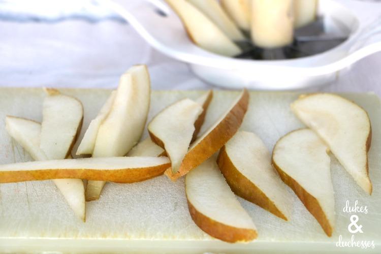 pears for cheesecake quesadilla