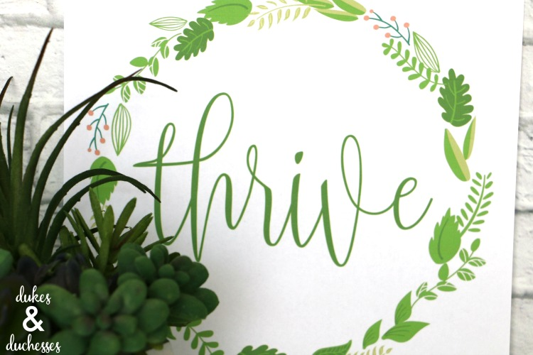 thrive printable inspired by joanna gaines