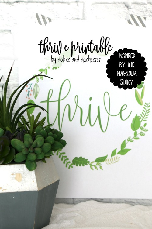 thrive printable inspired by the magnolia story