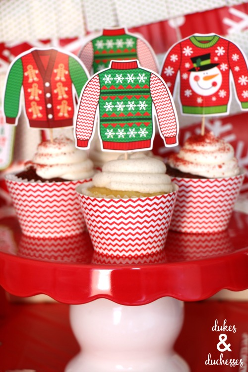 ugly christmas sweater cupcakes