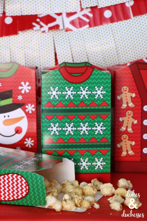 ugly christmas sweater favor boxes