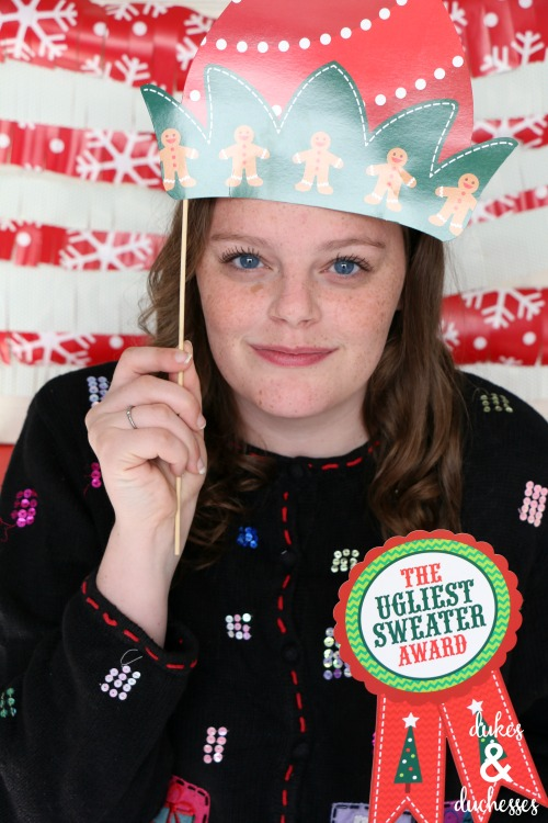 ugly christmas sweater photo props for photo booth