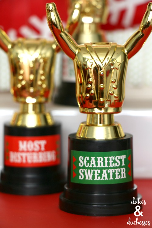 Ugly Sweater Poll Printable - Dukes and Duchesses