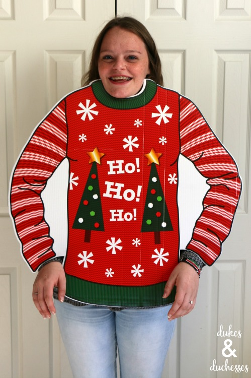 ugly christmas sweater party photo prop