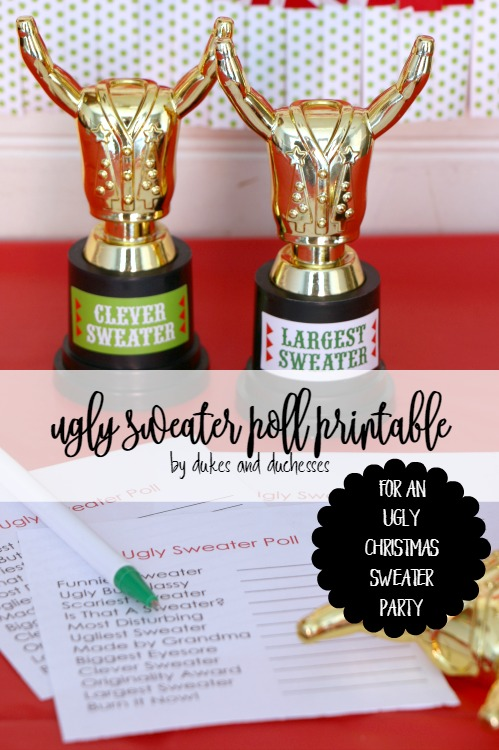 ugly sweater poll printable