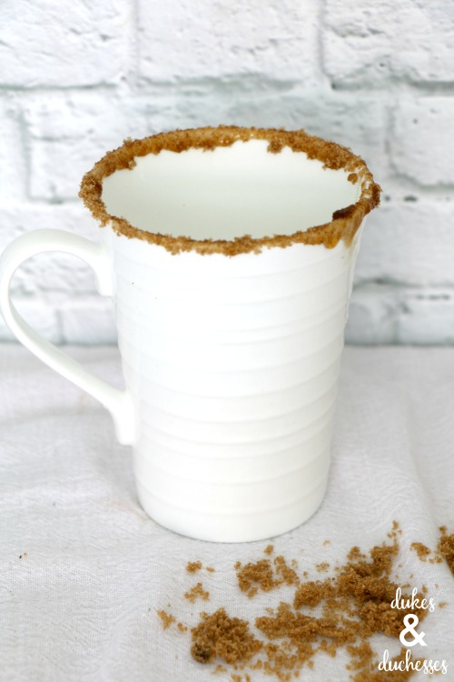 brown sugar rimmed cocoa cup