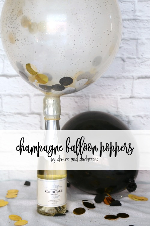 champagne confetti balloon poppers