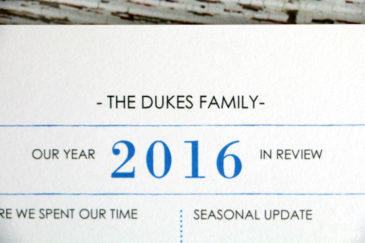 customized minted holiday card