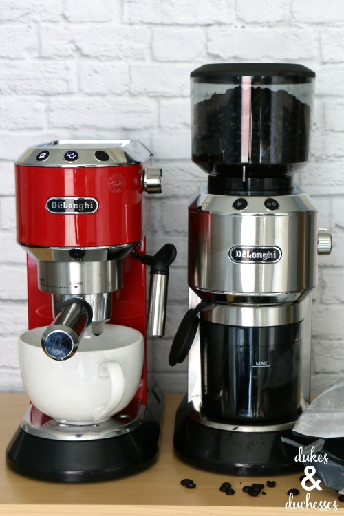 delonghi espresso machine and coffee grinder