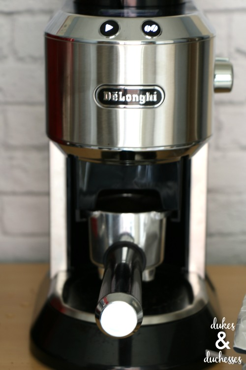 grinding fresh coffee beans