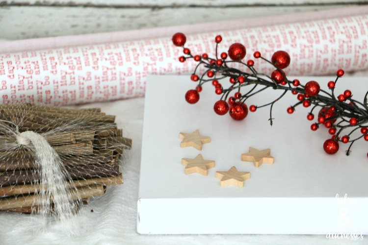 rustic gift wrap supplies