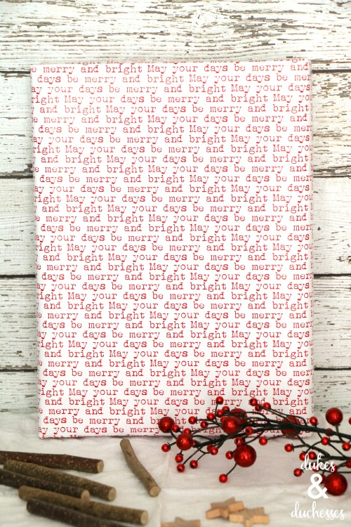 rustic holiday gift wrap