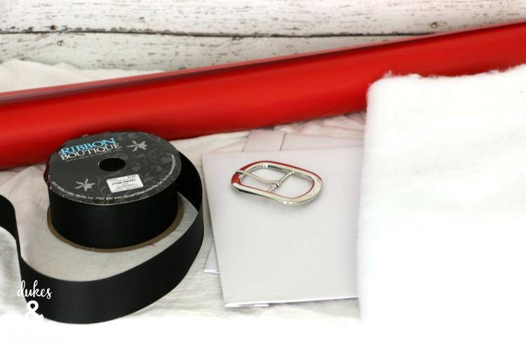 santa gift wrap supplies