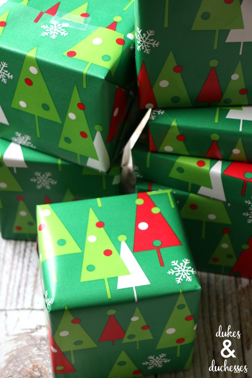 wrapped gifts for 12 days of christmas