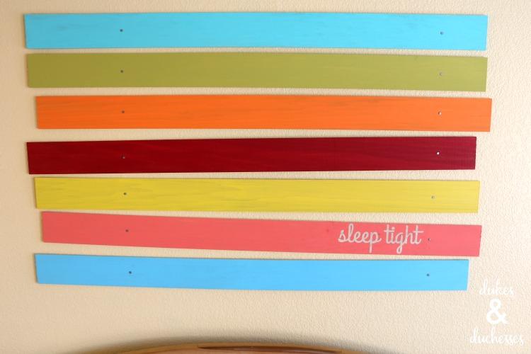 DIY sleep tight sign