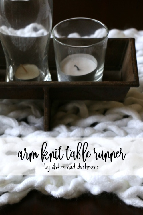 arm knit table runner