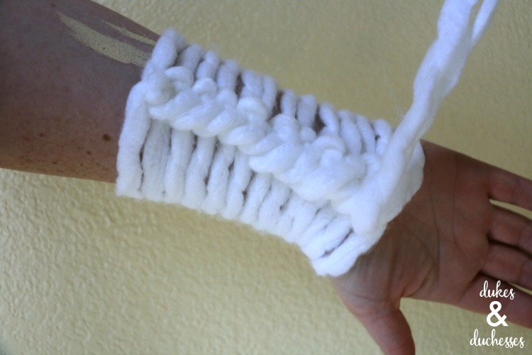 arm knitting cast on