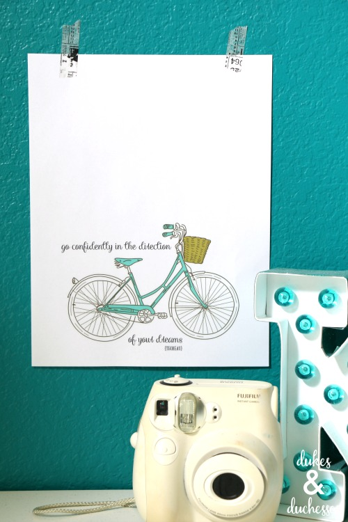 bicycle quote printable