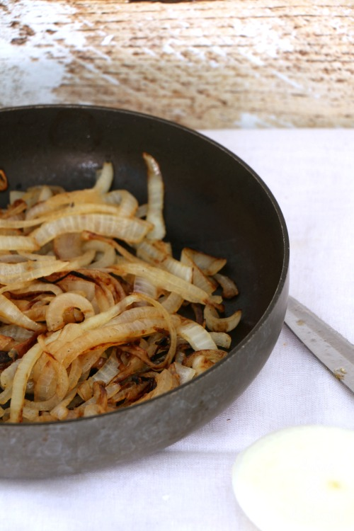 caramelized onions for panini sandwich