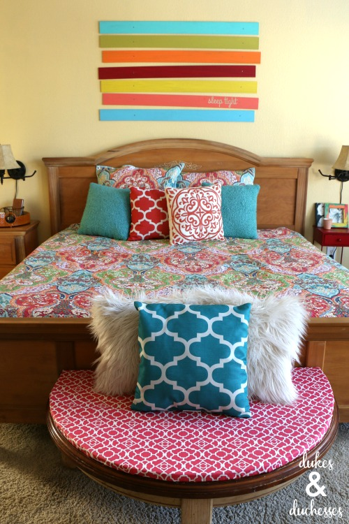 colorful bedroom ideas with DIY projects