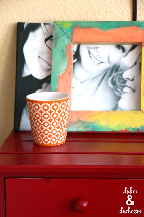 colorful bedside table decor