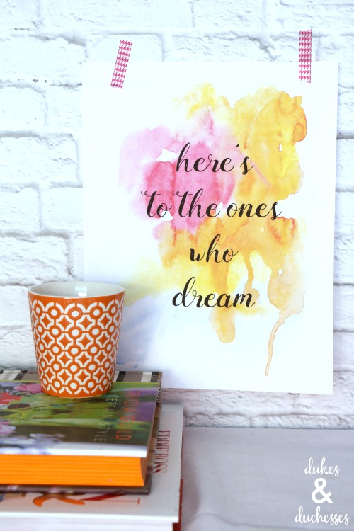 fools who dream printable