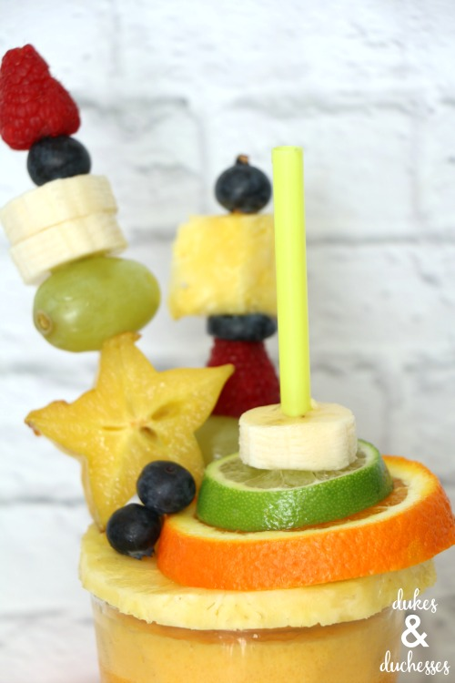 fruit kabobs on smoothie recipe