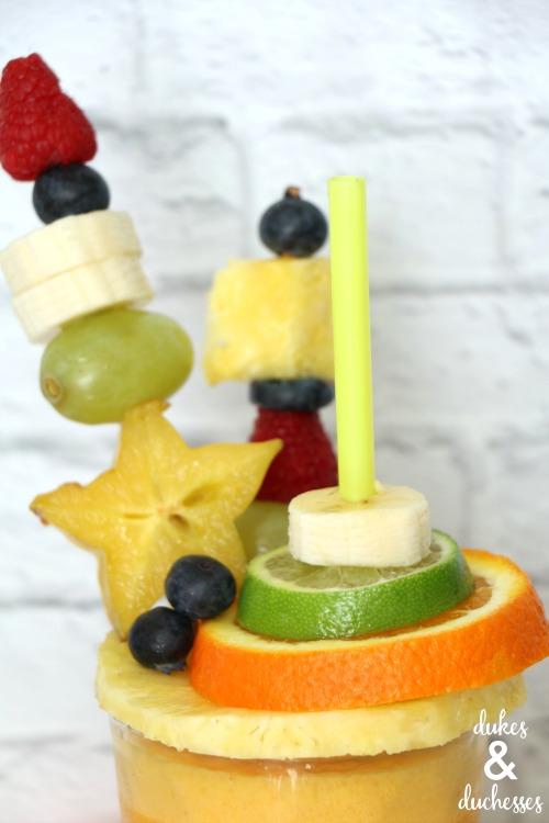 fruit kabobs on smoothie recipe