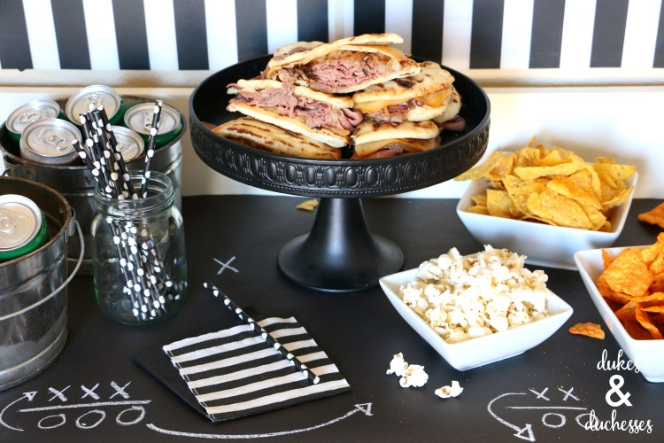 game day buffet party ideas