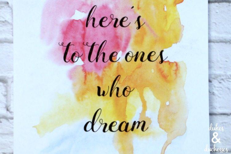 The Fools Who Dream La La Land Printable