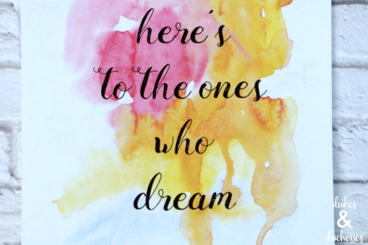 ones who dream la la land printable