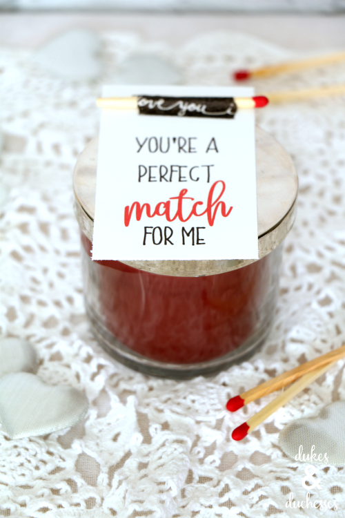perfect match candle gift for valentine's day