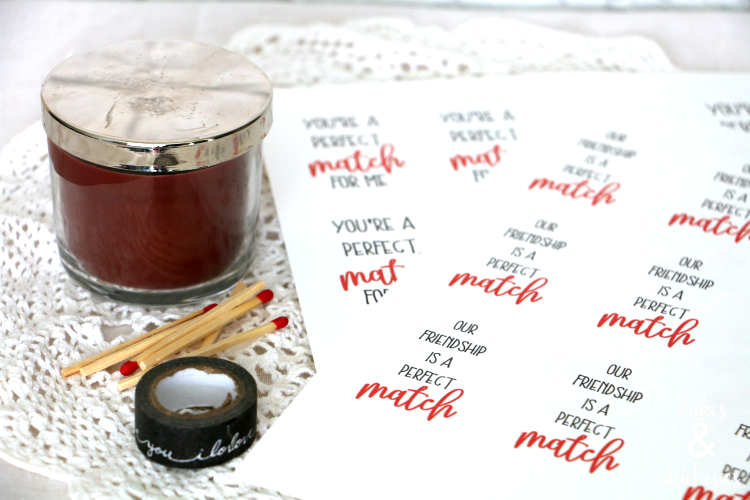 Perfect Match Candle Valentines