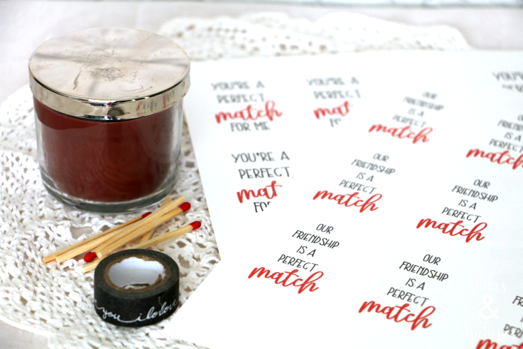 perfect match candle valentine for friends