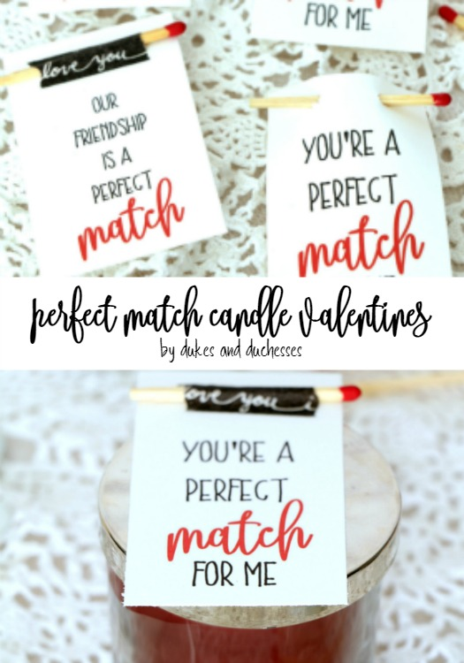 perfect match candle valentine