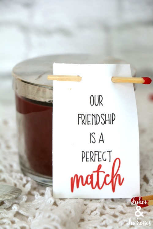 perfect match friendship valentine