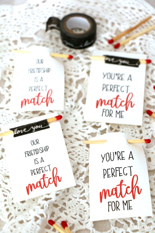 perfect match printable valentine tags