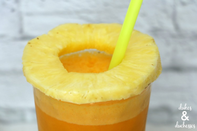 pineapple ring on extreme smoothie