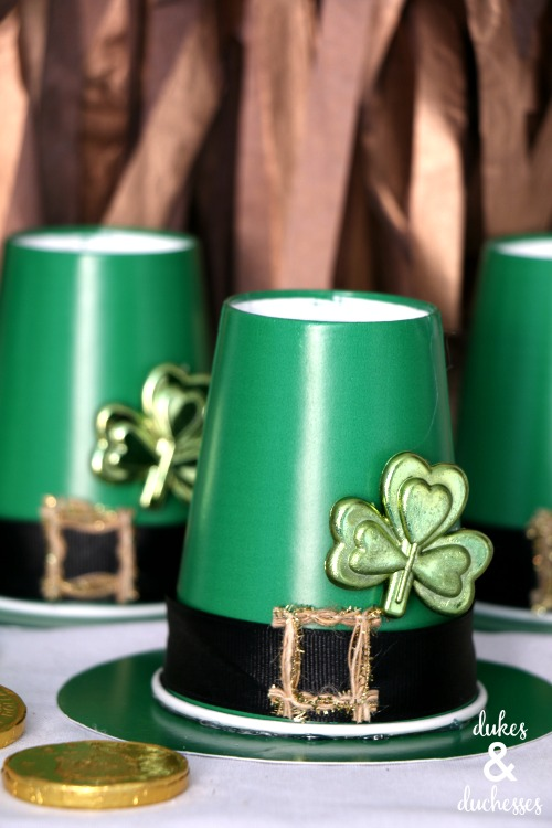 repurposed leprechaun treat cups
